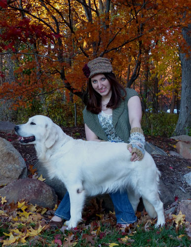Arctica and Taylor enjoying the colors of Fall